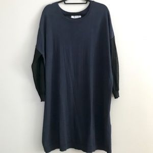 ASOS black and navy sweater dress